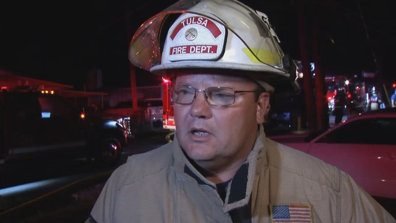 WEB EXTRA: Tulsa District Fire Chief Kelly Kaiser Talks About The Fire