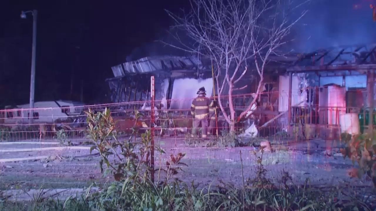 WEB EXTRA: Video From Scene Of Creek County Fire