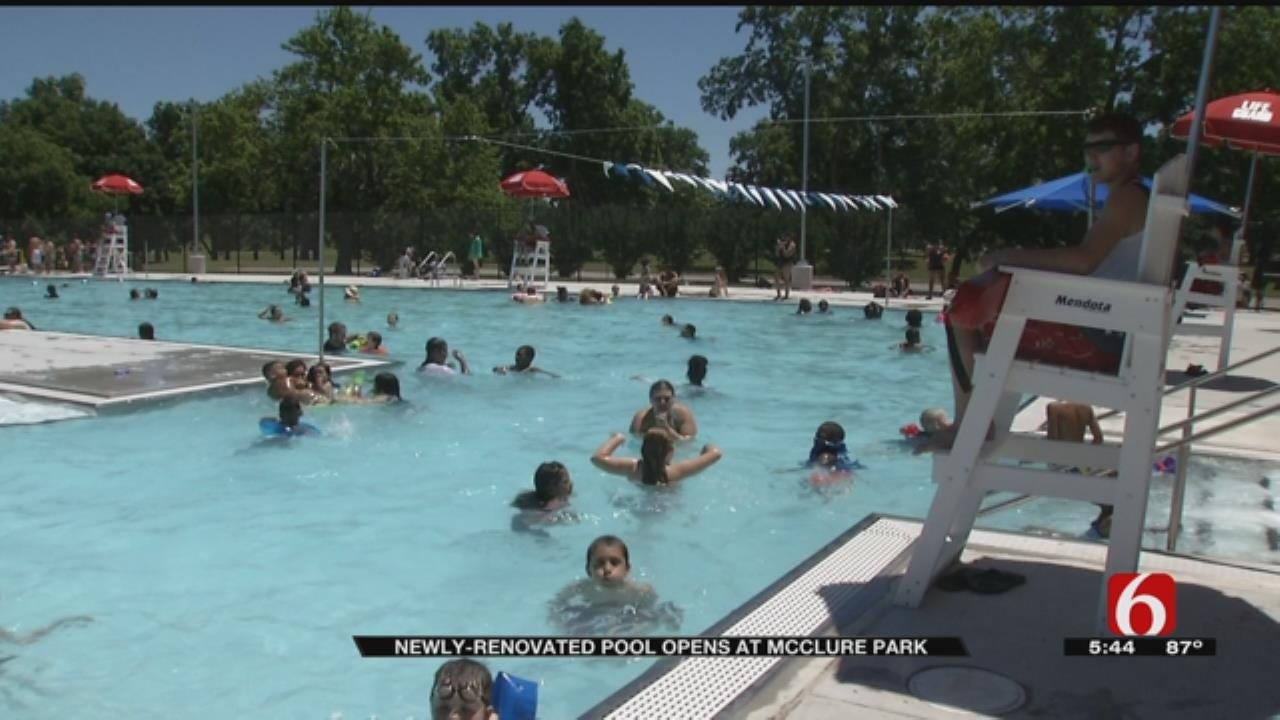 New Pool Opens At McClure Park In Tulsa