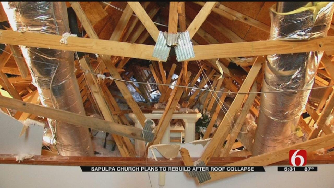 Sapulpa Church Rebuilding After Roof Collapse