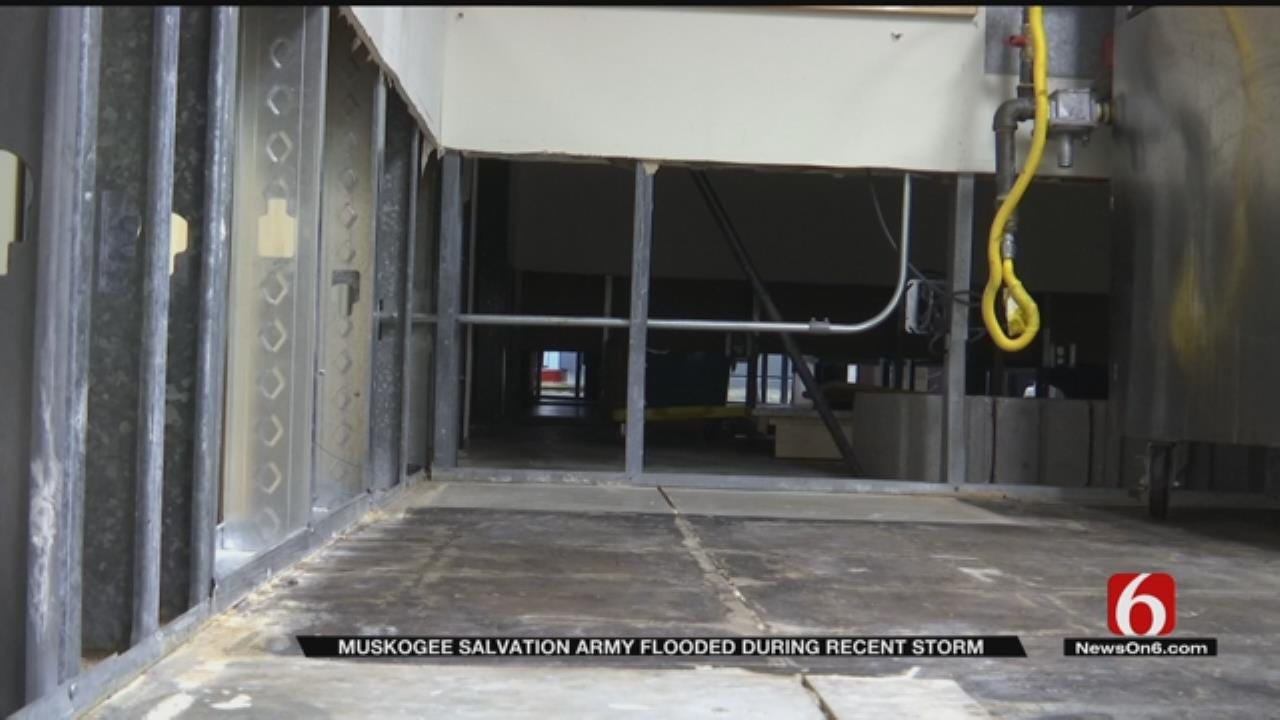 Salvation Army Of Muskogee Building Flooded After Storms