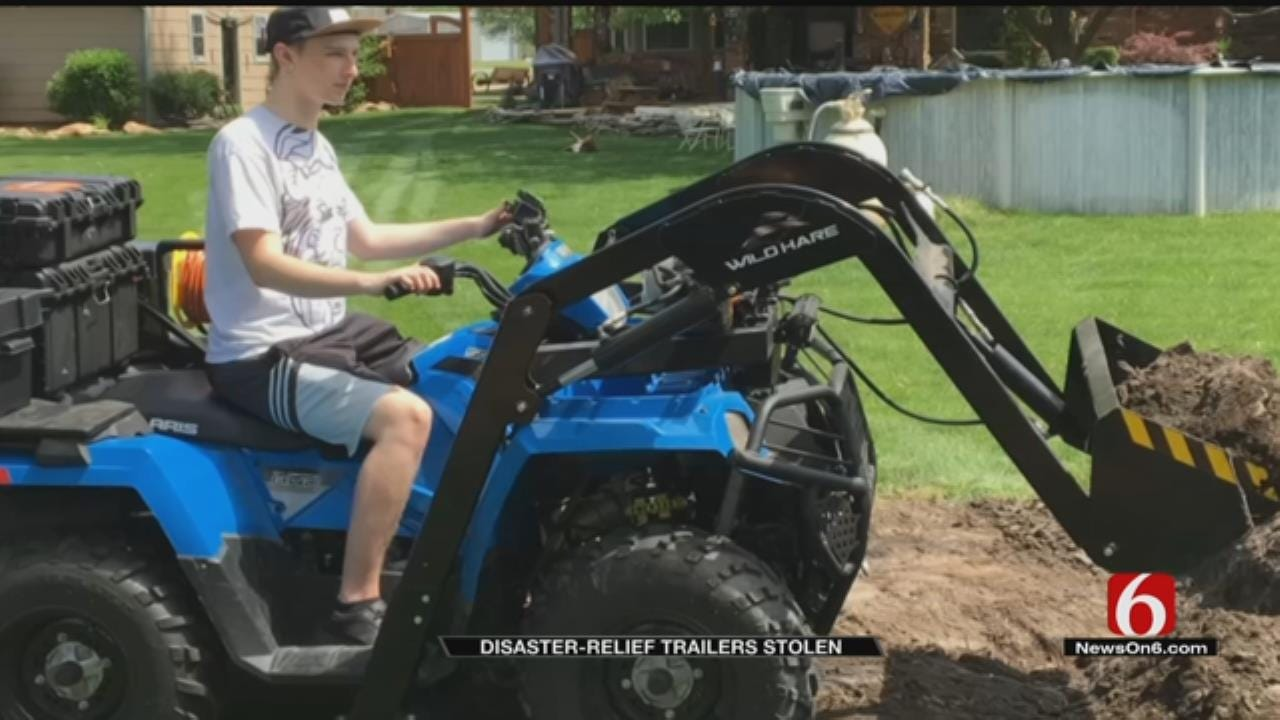 Thieves Steal Rogers County Man's Disaster Relief Equipment