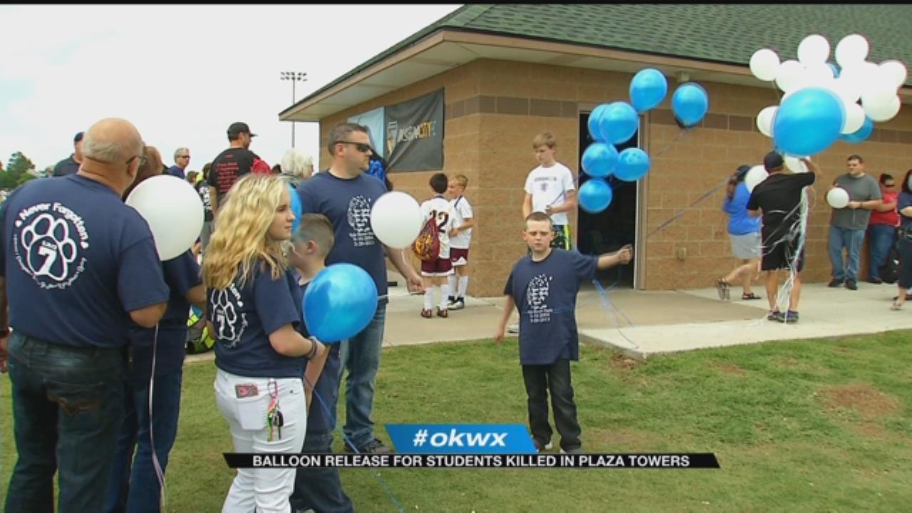 Memorial Balloon Release Held For Children Lost During 2013 Moore Tornado