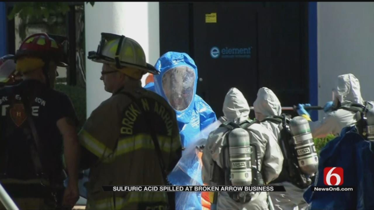 Sulfuric Acid Spill Reported At Broken Arrow Business