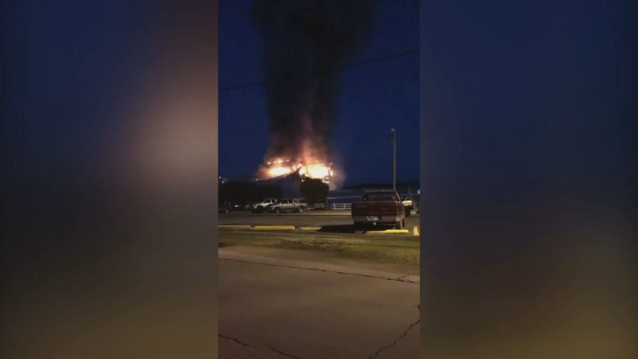 WEB EXTRA: VIdeo From Tate Delana Of The Fire At The Glass Plant