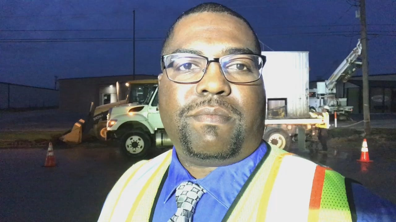 Joseph Holloway Reports Crews Repair Accidential Water Line Break