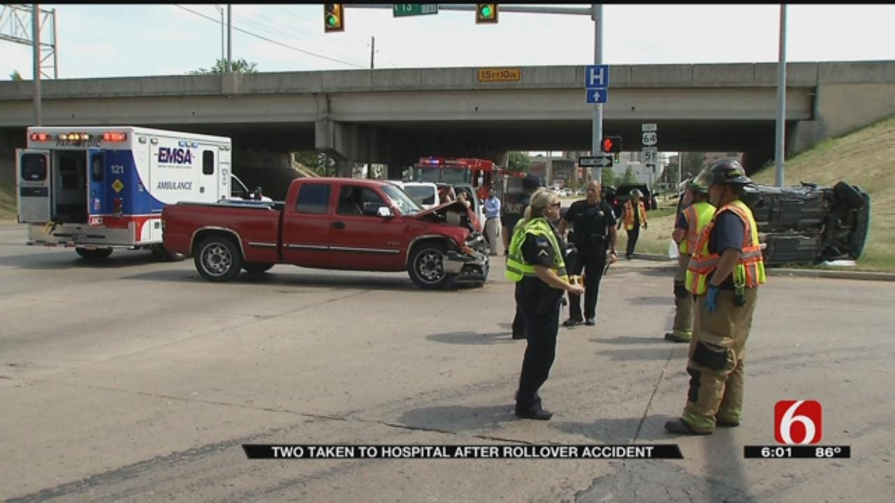 Two Vehicles Involved In Rollover Crash In Tulsa