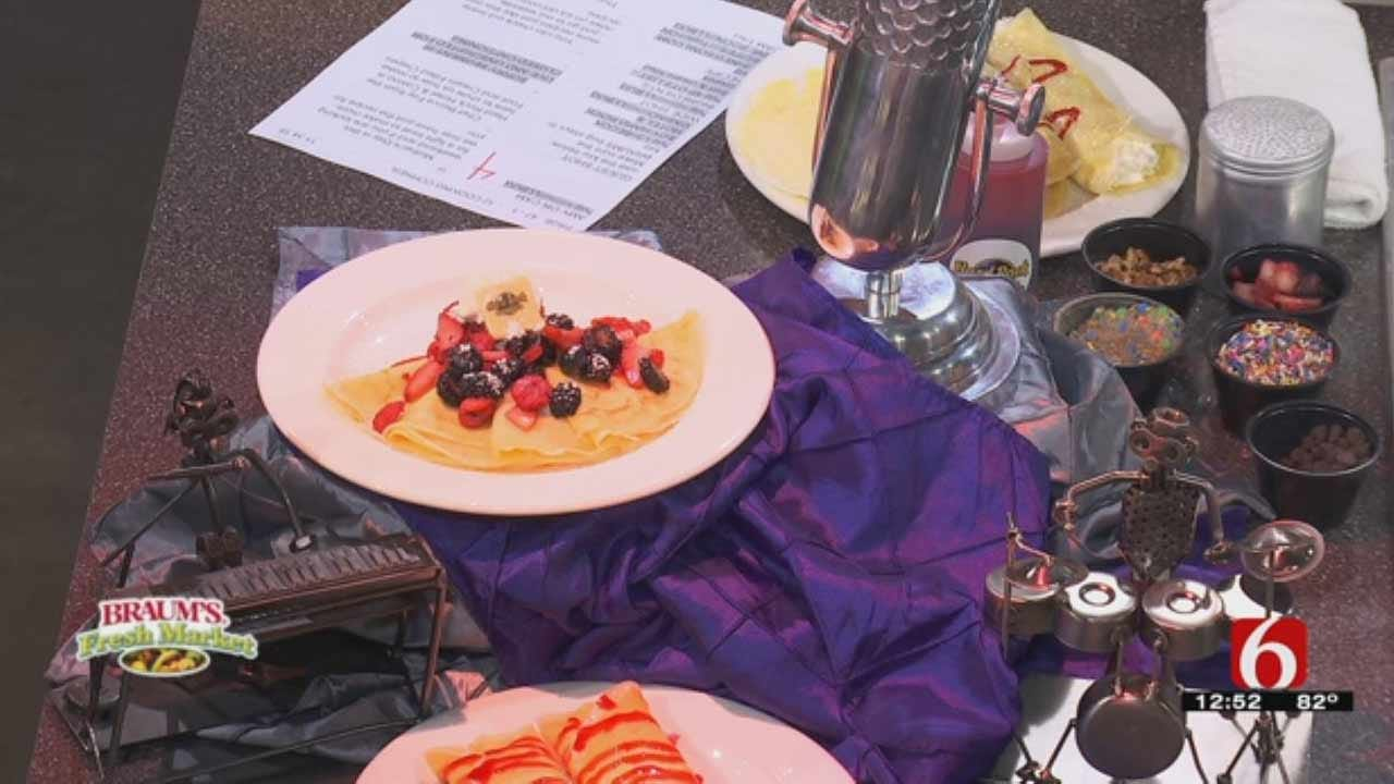Fruit And Cream Filled Crepe