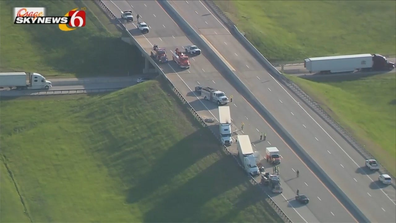 WEB EXTRA: Osage SkyNews 6 HD Video From Scene Of Turnpike Crash