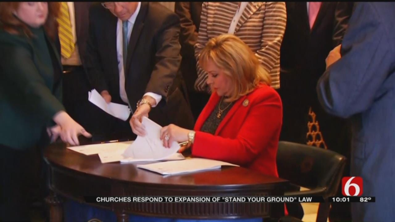 New Law Expands 'Stand Your Ground' To Include Places Of Worship