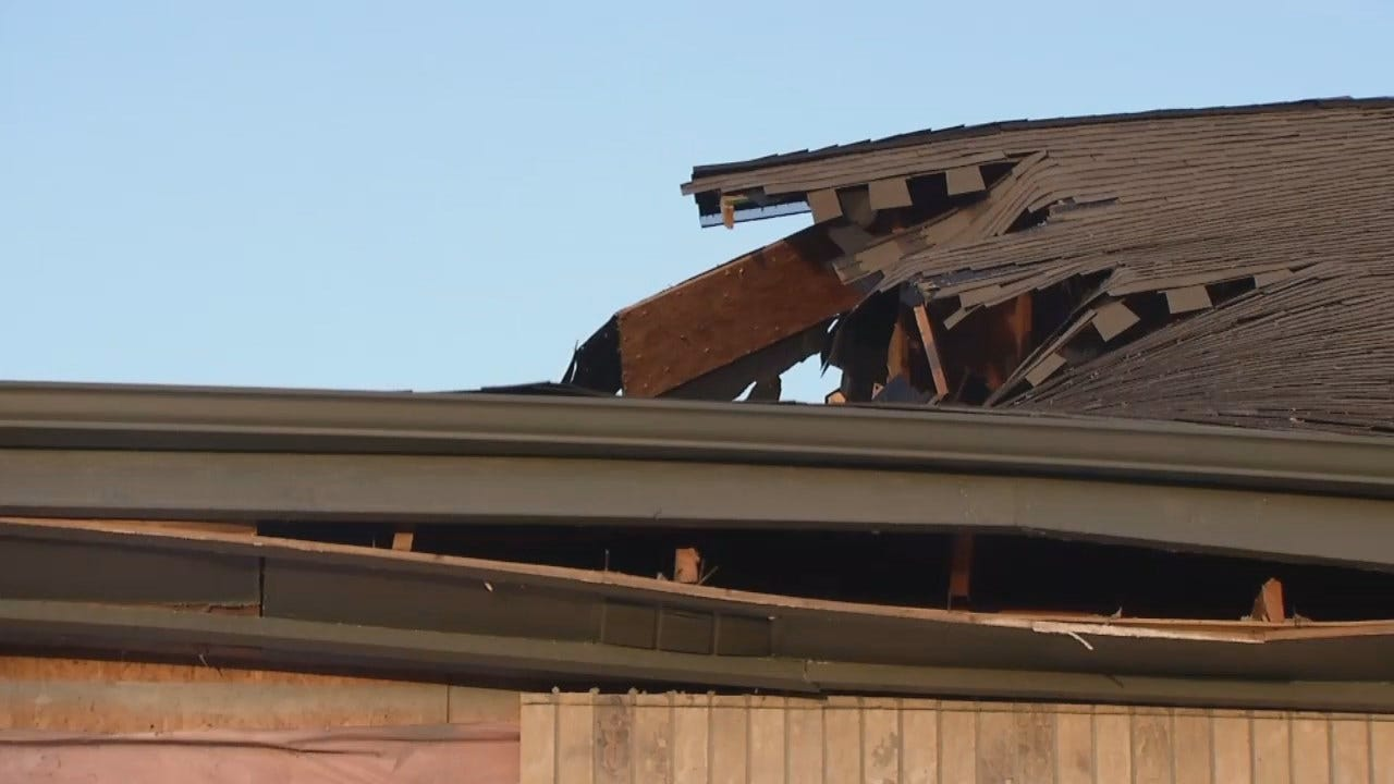 WEB EXTRA: Video From Scene Of Sapulpa Church Roof Collapse