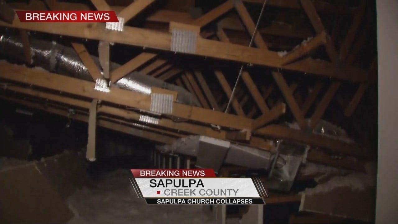 Sanctuary Roof Collapses At Sapulpa Church