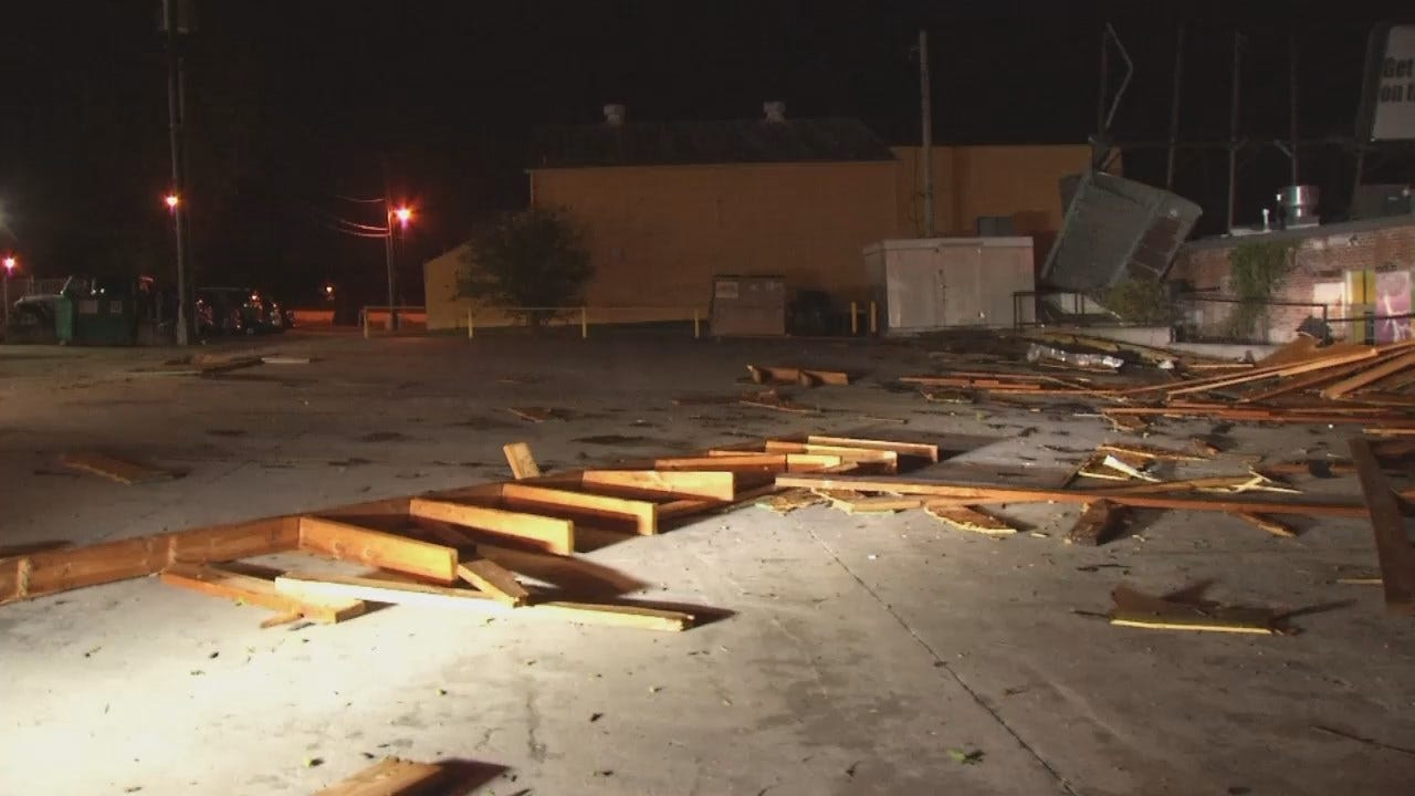 WEB EXTRA: Video Of Storm Debris In Phat Philly's Parking Lot