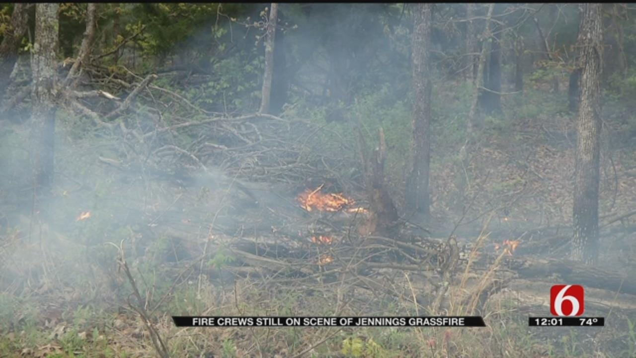 Firefighters Work Overnight To Control Pawnee County Wildfires