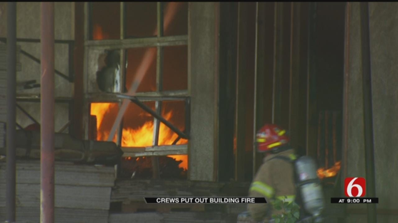 Warehouse Fire Near Mingo