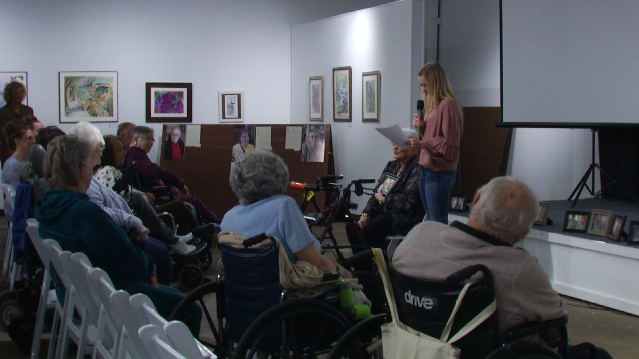 Senior Citizens Help Jenks Students As Part Of A Special History Lesson