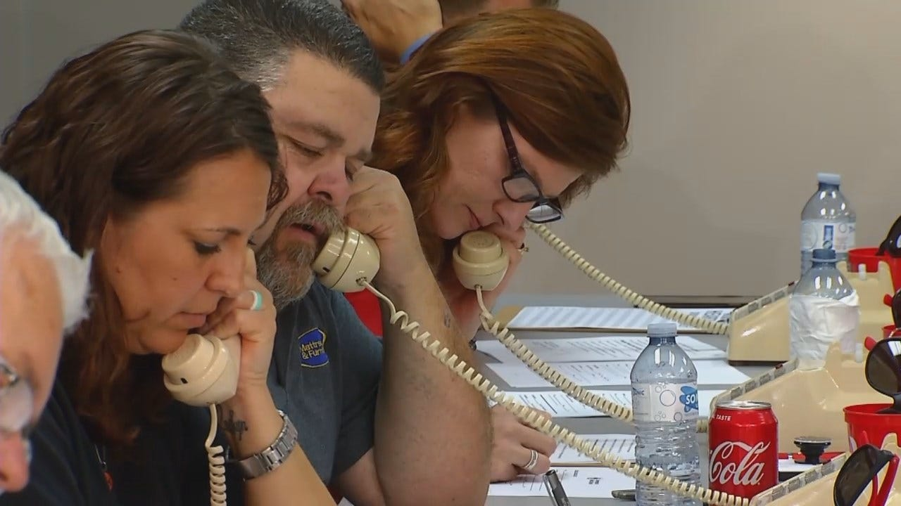 WEB EXTRA: Video From Phone Bank At 'Healing The Heartland' Telethon