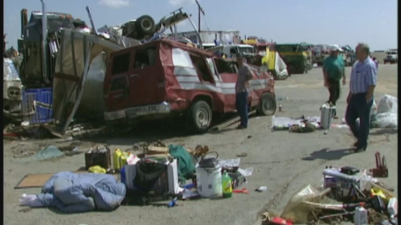 WEB EXTRA: Video From The Aftermath Of Catoosa's Deadly Tornadoes