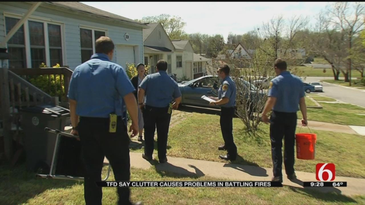 Tulsa Firefighters Check On Neighbors After Deadly Weekend Fire