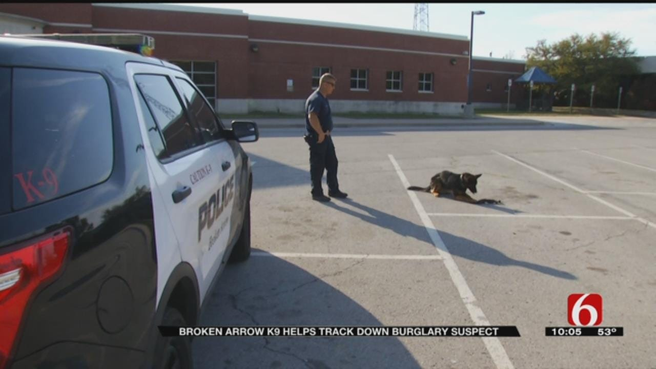 Broken Arrow Burglary Suspect No Match For K-9 Unit