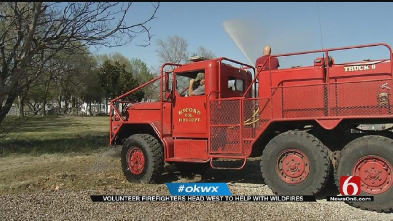 Green Country Firefighters Lend Hand In Northwest Oklahoma Fires
