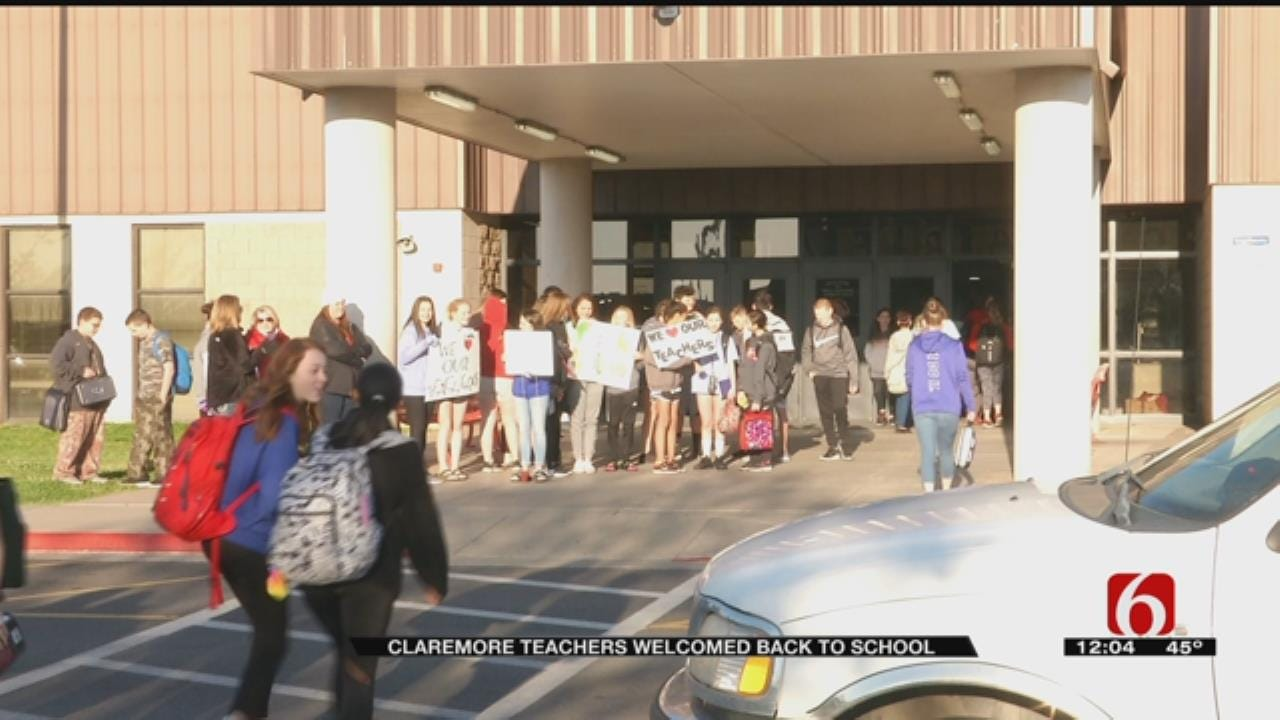 Claremore Rallies To Welcome Teachers Back To School