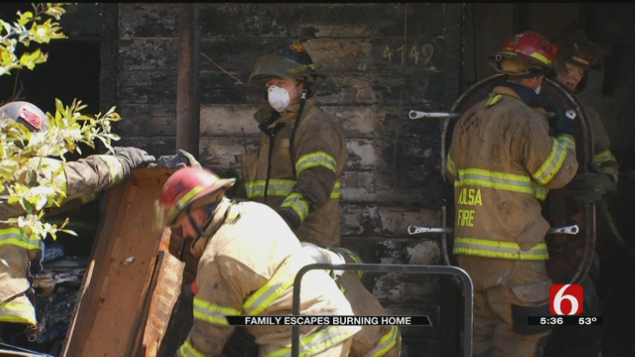 Three Women Escape Unharmed From Tulsa House Fire