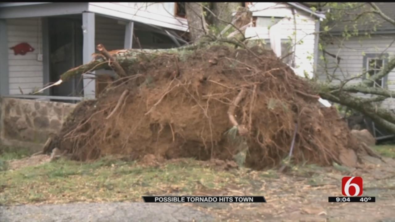 Possible Tornado Tears Threw Arkansas Town