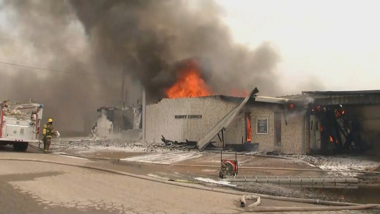 WEB EXTRA: Fire Destroys Nowata Church