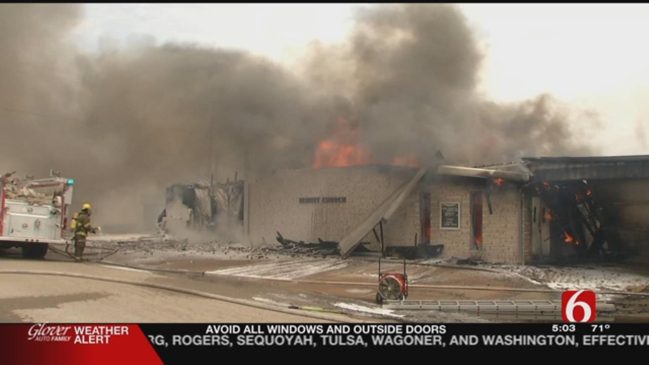 'God's Bigger Than A Fire,' Says Pastor Of Destroyed Nowata Church
