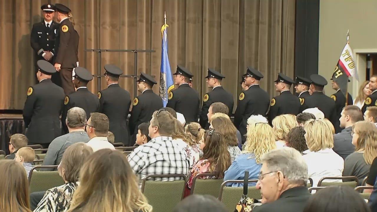 WEB EXTRA: Video From Tulsa Fire Academy Graduation Ceremony