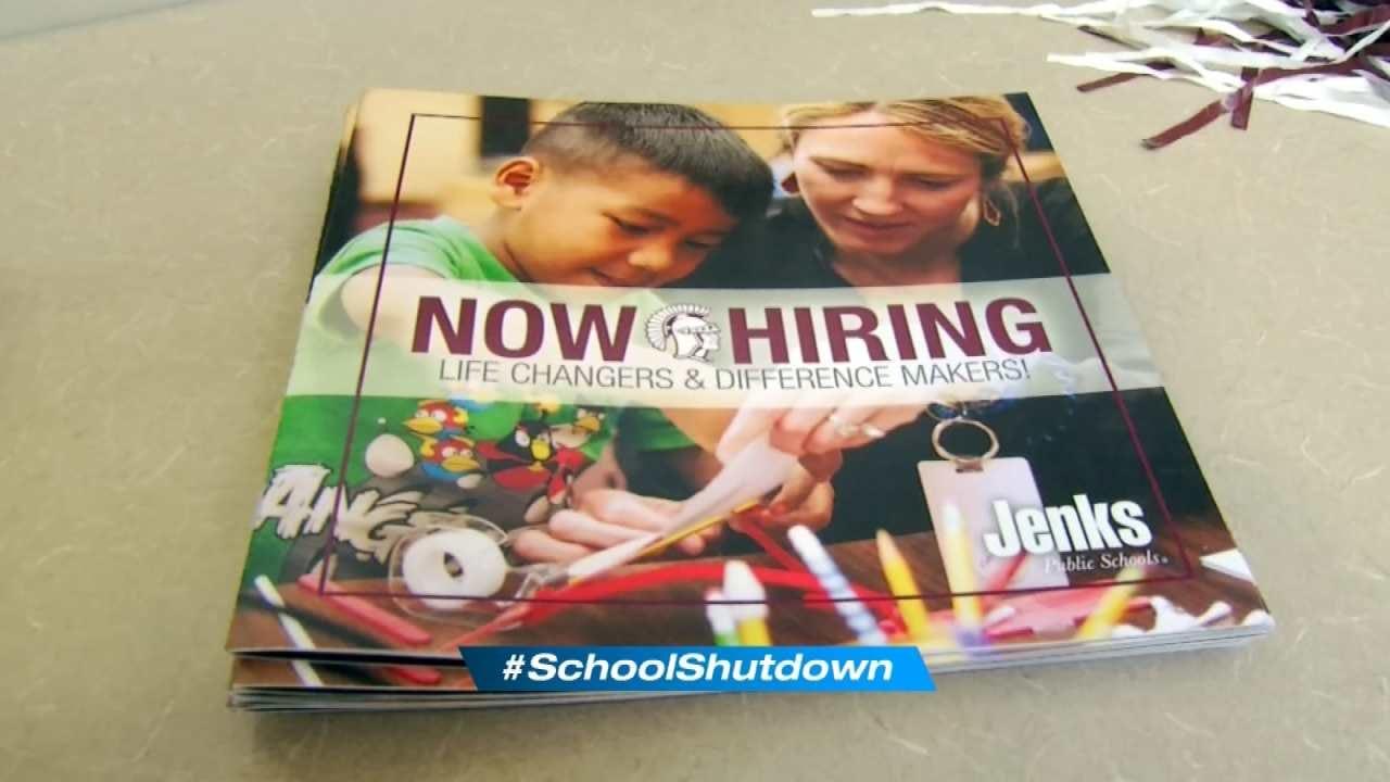 Jenks Public Schools Holds Teacher Job Fair In Midst Of Walkout