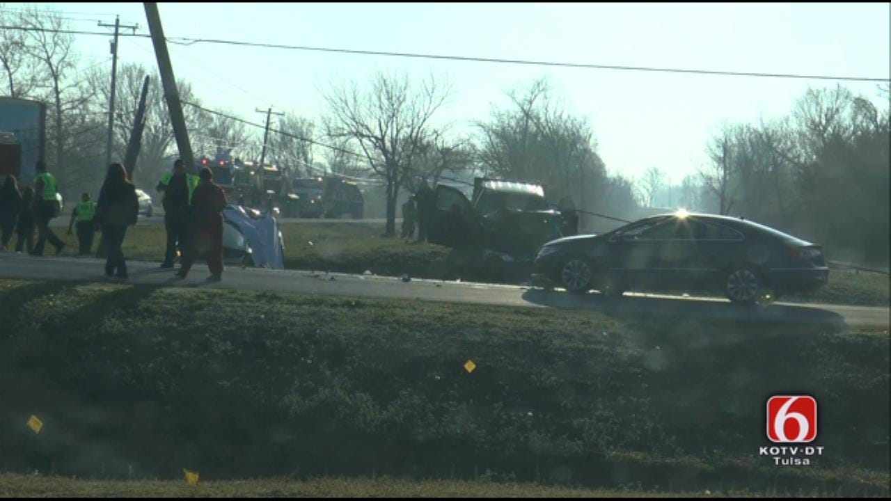 WEB EXTRA: Fatality Crash At Owasso Intersection