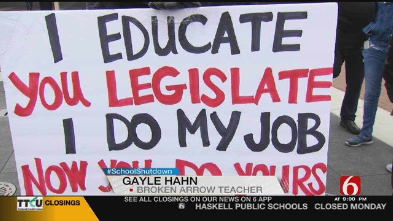 Green Country Teachers Prepare For Walkout Week Two