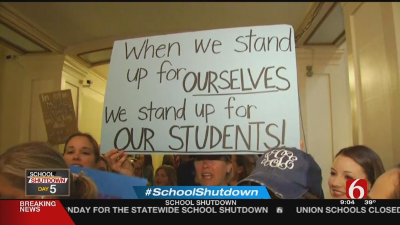 No Clear End In Sight After First Week Of Teacher Walkout