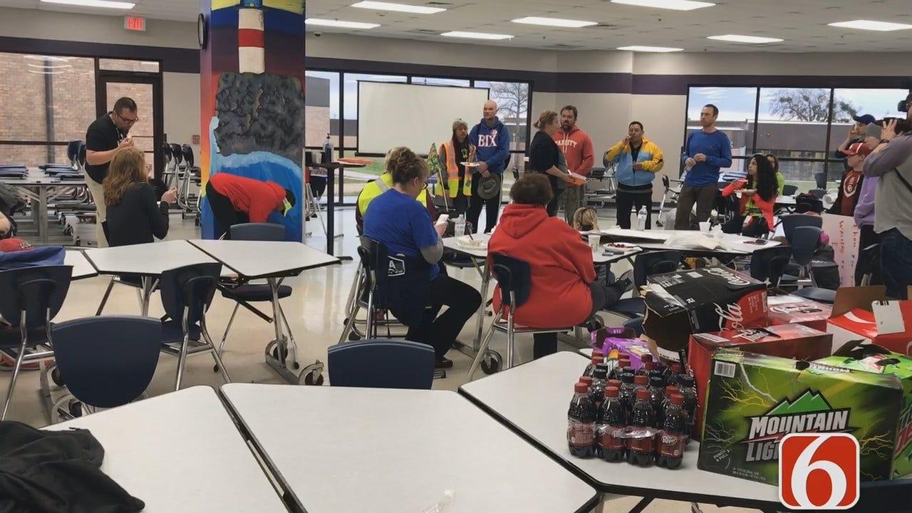 Julia Benbrook Reports On Tulsa Teachers Walking To OKC