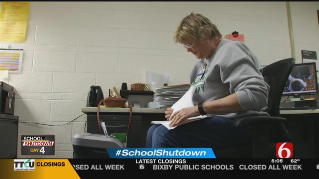 Despite Shutdown, Work Continues For Tulsa Principal