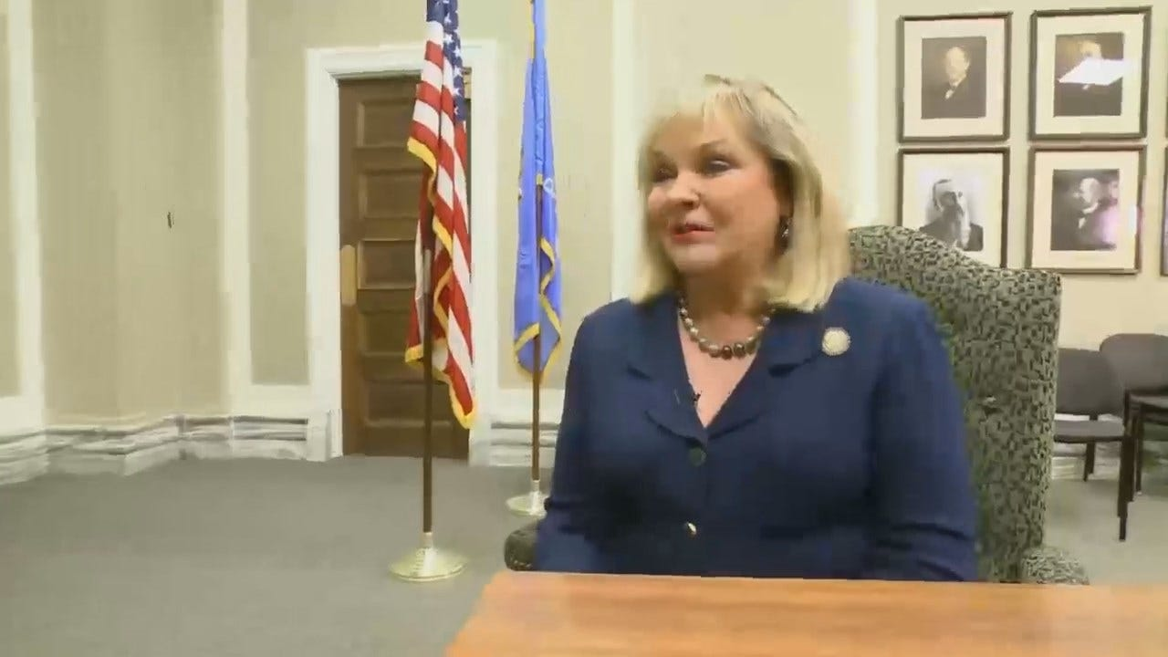 WEB EXTRA: Clip From CBS News' Omar Villafranca's Interview With Governor Fallin