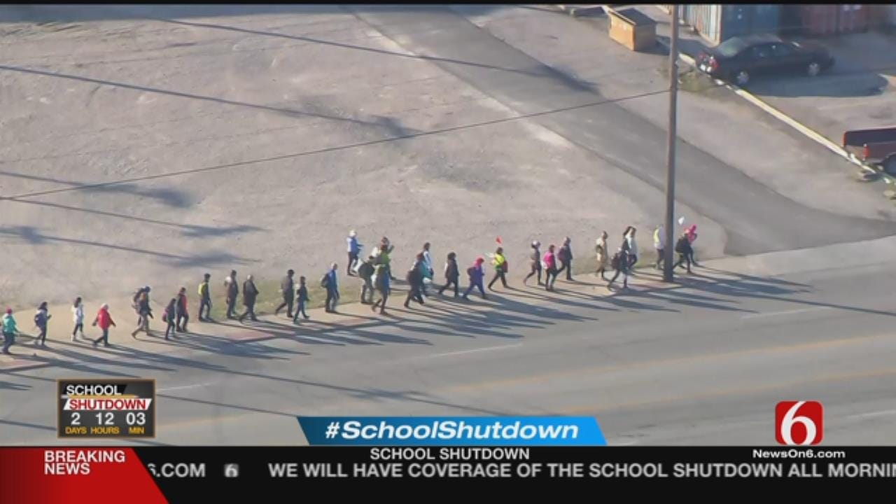 Educators Walking From Tulsa To State Capitol In OKC