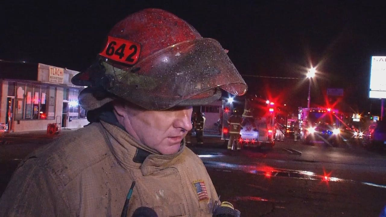 WEB EXTRA: Tulsa Fire Captain Eddie Mangold Talks About The Fire