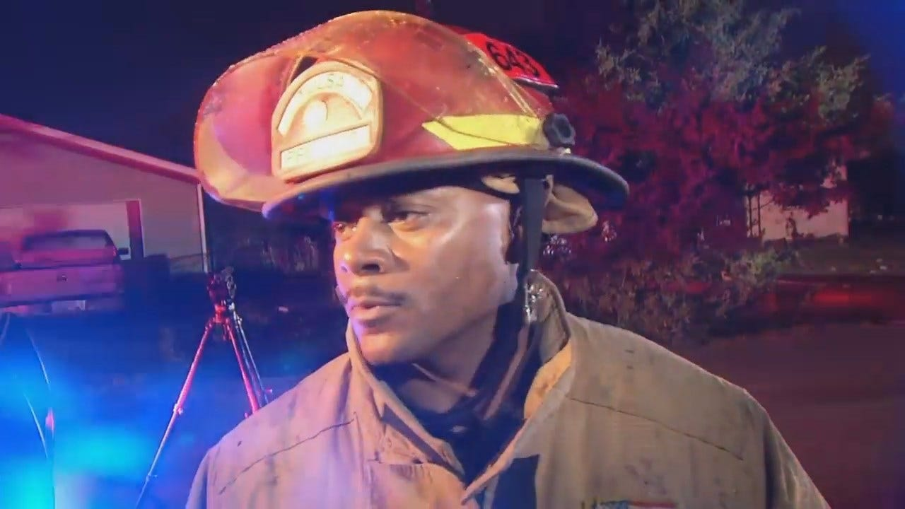 WEB EXTRA: Tulsa Fire Captain Troy Franklin Talks About The Fire