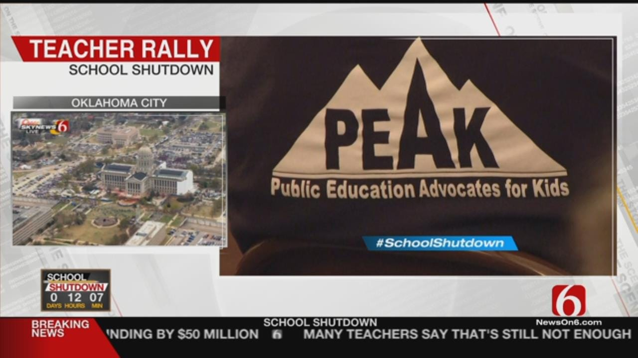 Bartlesville Teachers Hold Rally Ahead Of March On State Capitol