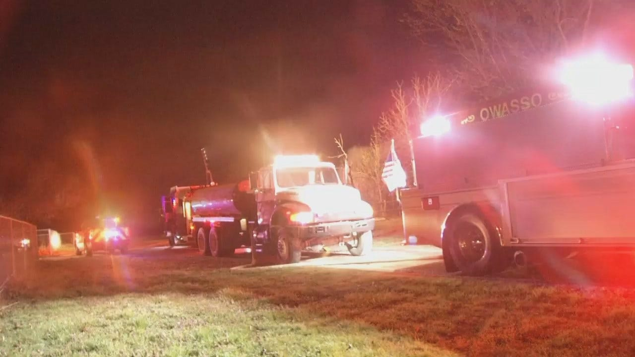 WEB EXTRA: Video From The Scene Of The House Fire