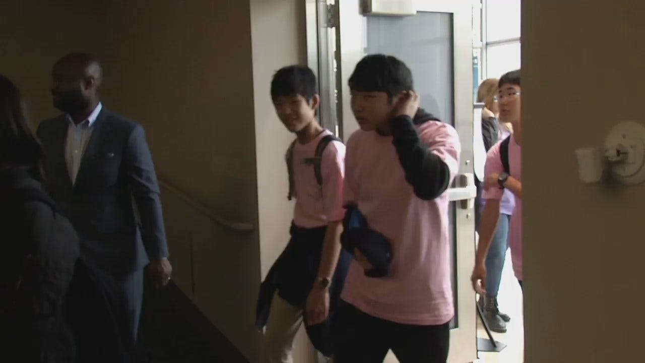 WEB EXTRA: Japanese Students From Tulsa's Sister City Visit City Hall