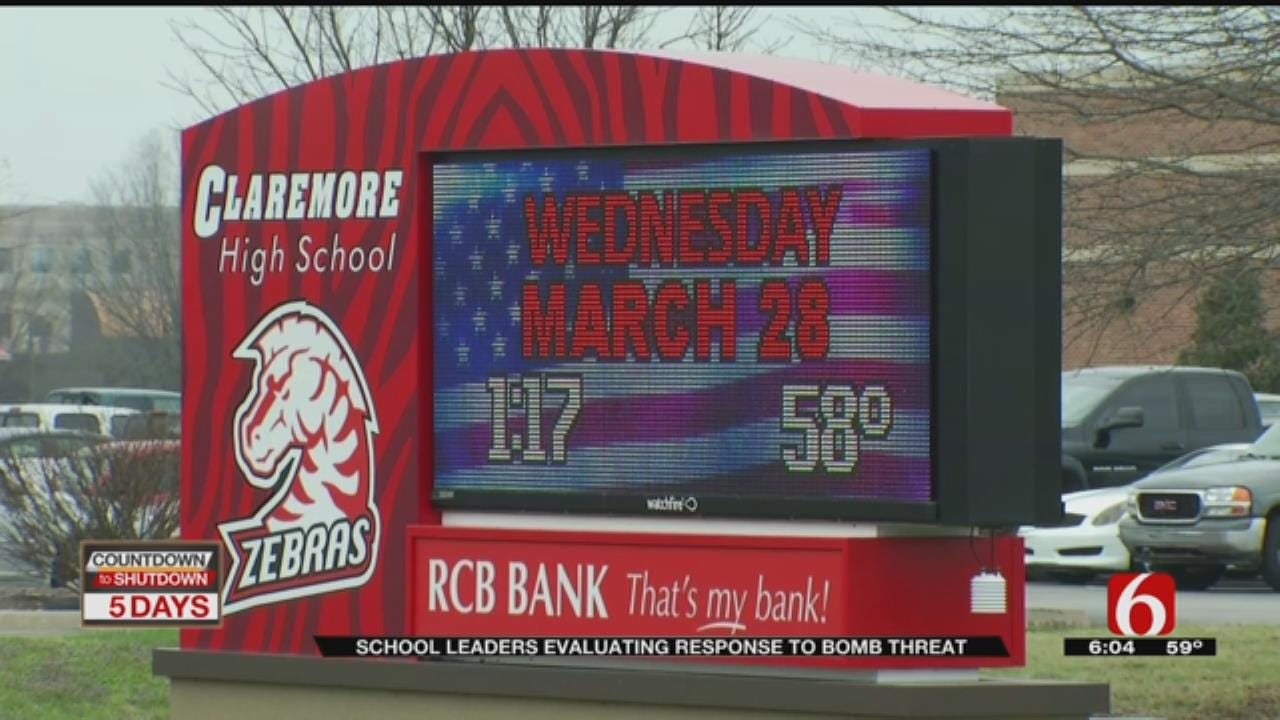 Claremore School Leaders Meet To Review Bomb Threat Response