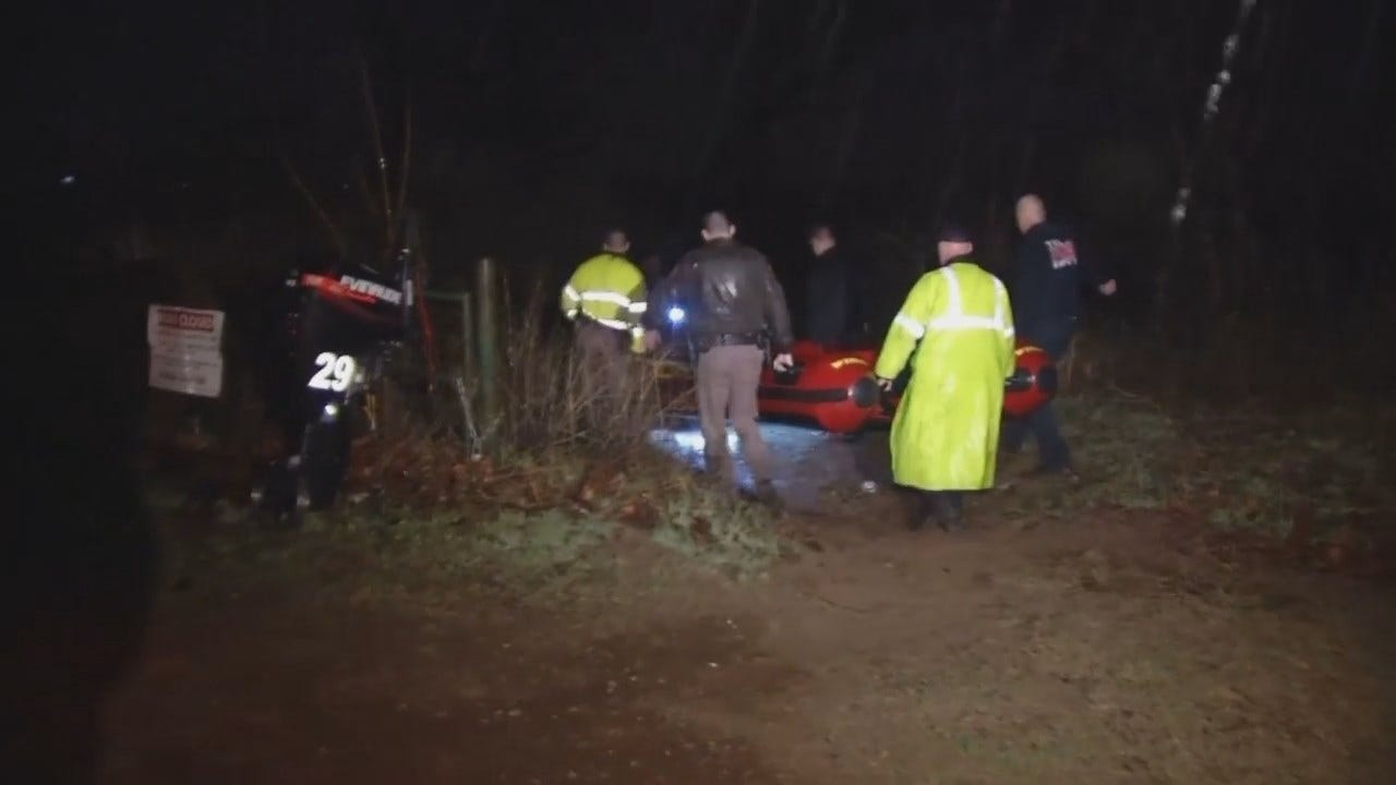WEB EXTRA: Video From Scene Of Arkansas River Rescue In Bixby