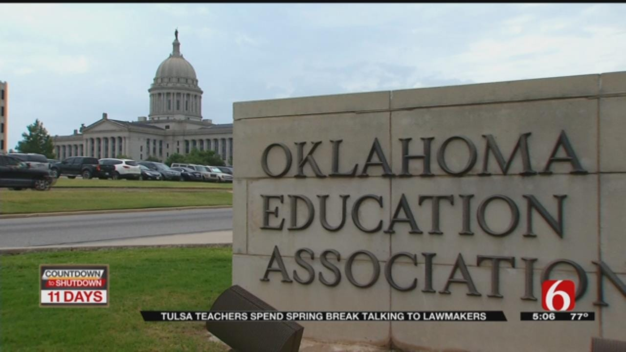 Tulsa Teachers Lobby Education Funding At State Capitol