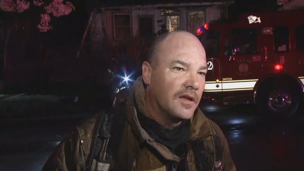 WEB EXTRA: Tulsa Fire Captain Jimmy Over Talks About House Fire