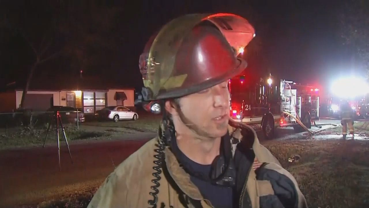 WEB EXTRA: Tulsa Fire Captain Keith Beck Talks About The Fire