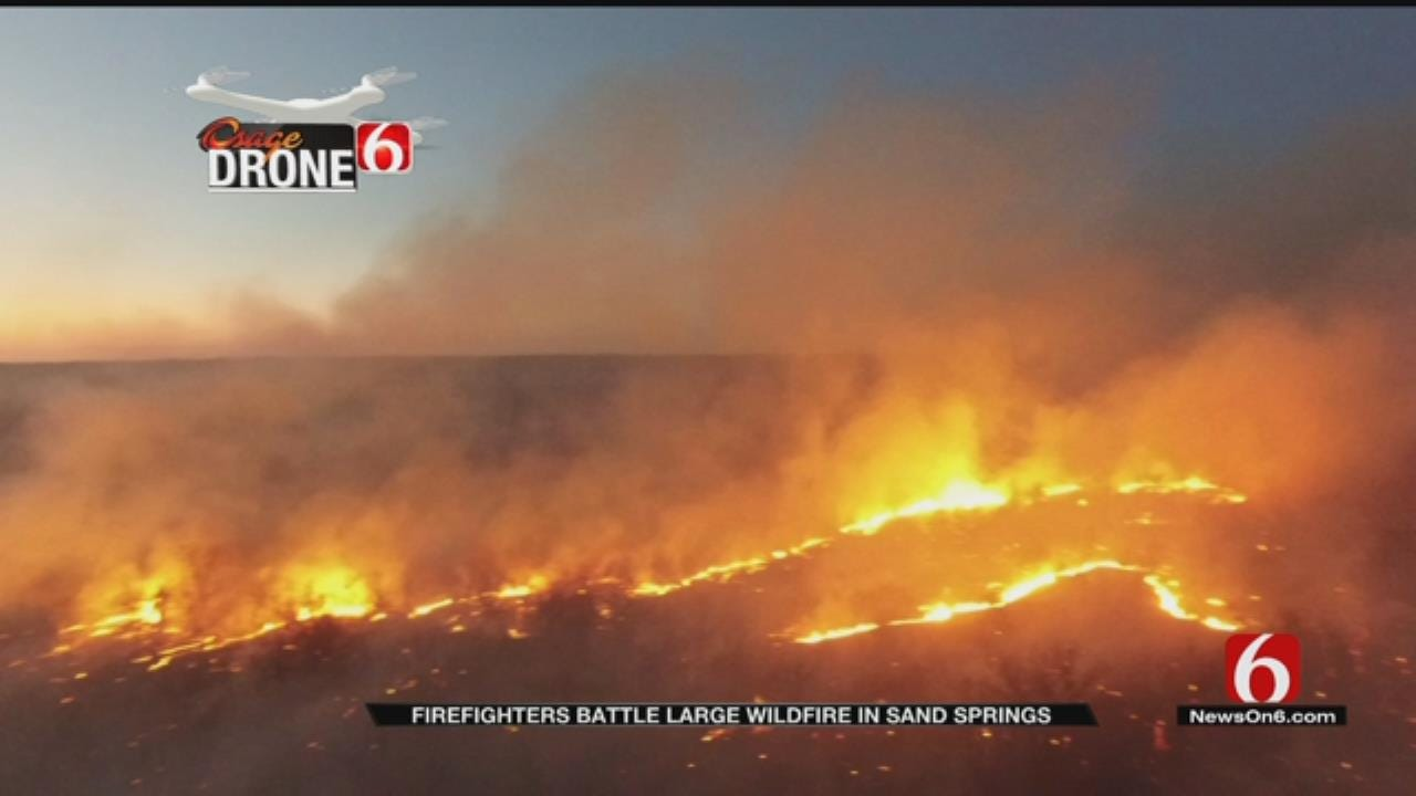Police Suspect Arson After Wildfires Plague Sand Springs